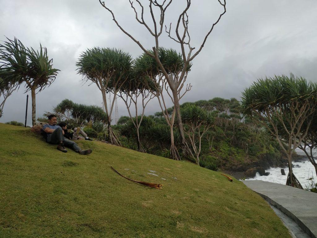 rumput hijau di pantai karangtawulan