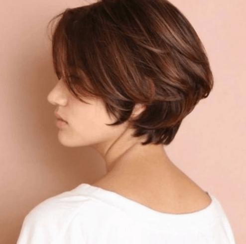 Gaya rambut bob layer bervolume