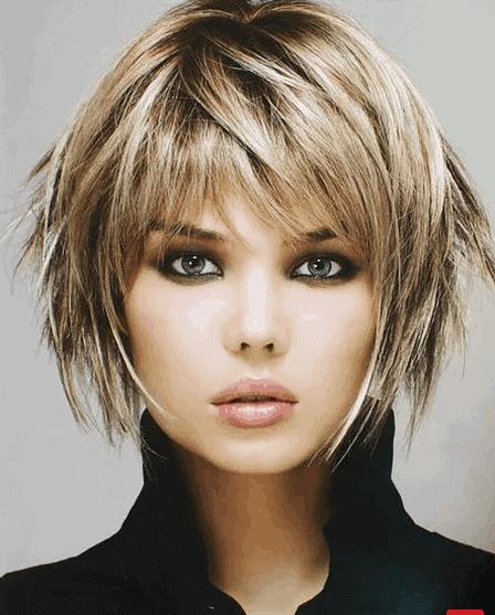 gaya Rambut Pendek Layer Berponi tren 2021