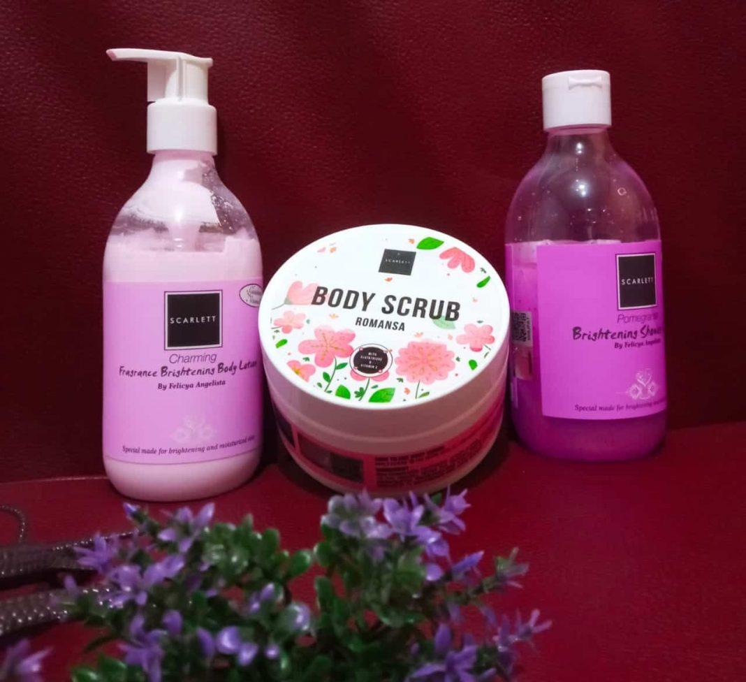 review scarlett whitening Bodyscrub by Felicia Angelista
